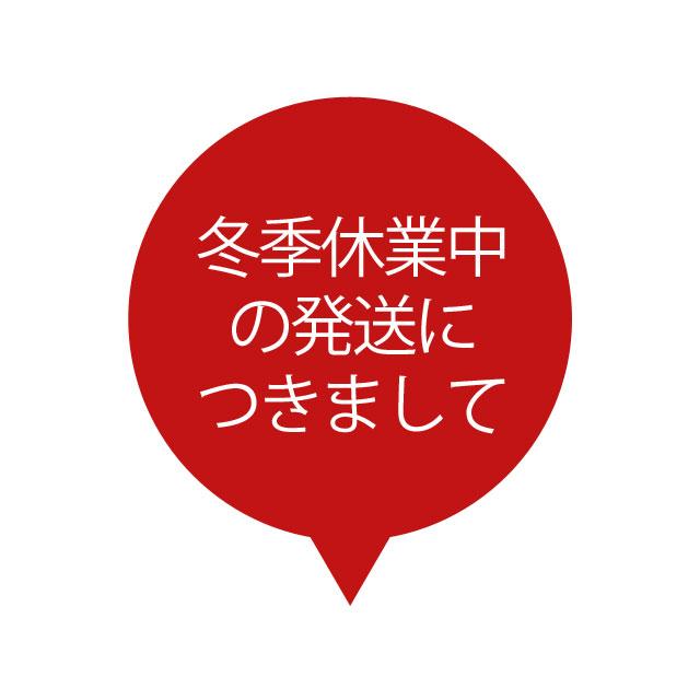 ★冬季休業期間の発送に関するお知らせ★