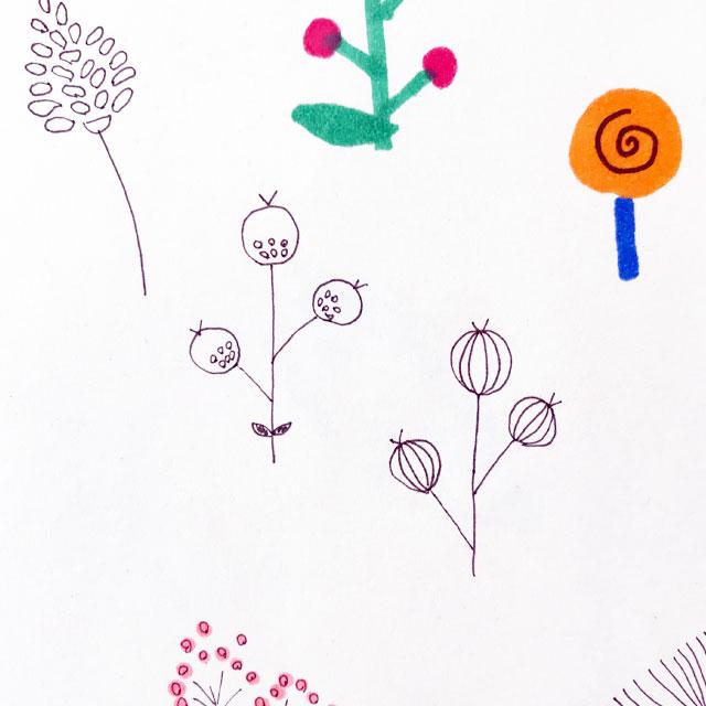 小さな花のスマホケース 制作中♪