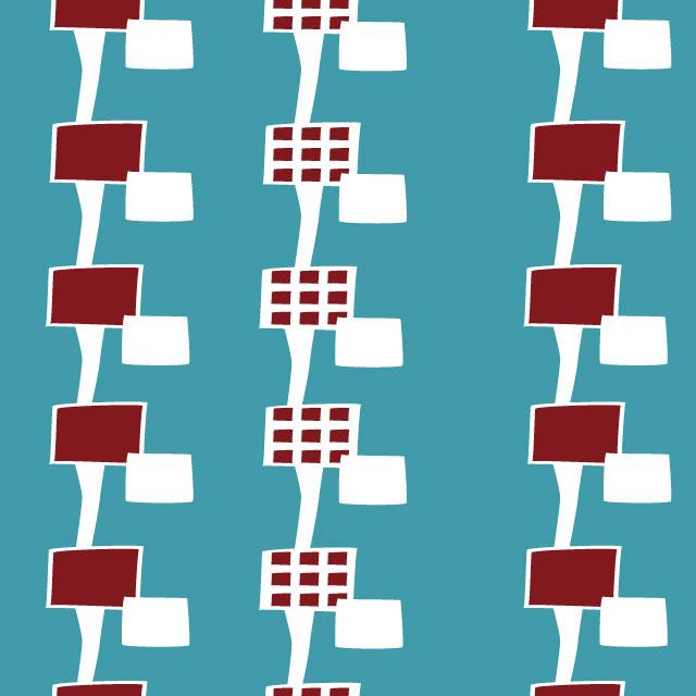 【北欧】パターン スマホ壁紙 ホーム/ロック画面 無料ダウンロード つながる四角