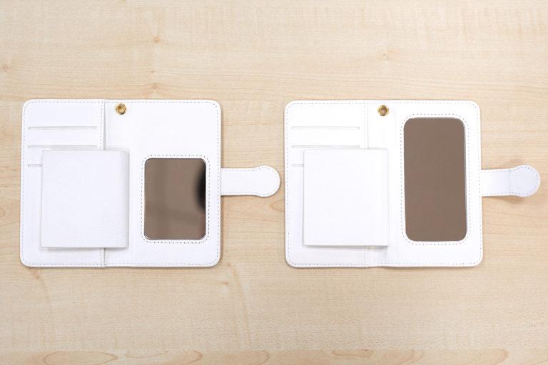 手帳型スマホケース(Android用)のミラーの仕様変更について