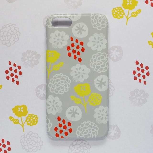 花のおまじない ウォームグレー 北欧 スマホケース/スマホカバー iPhone/android/Galaxy/Xperia/AQUOS/Huawei